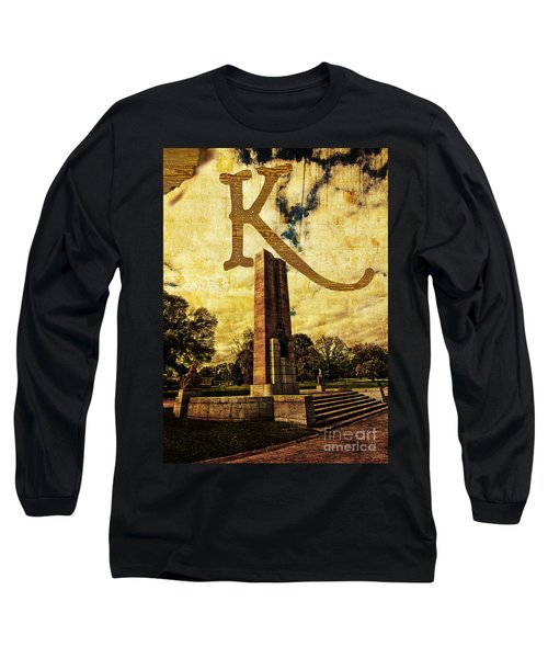 Grungy Melbourne Australia Alphabet Series Letter K Kings Domain Long Sleeve T-Shirt