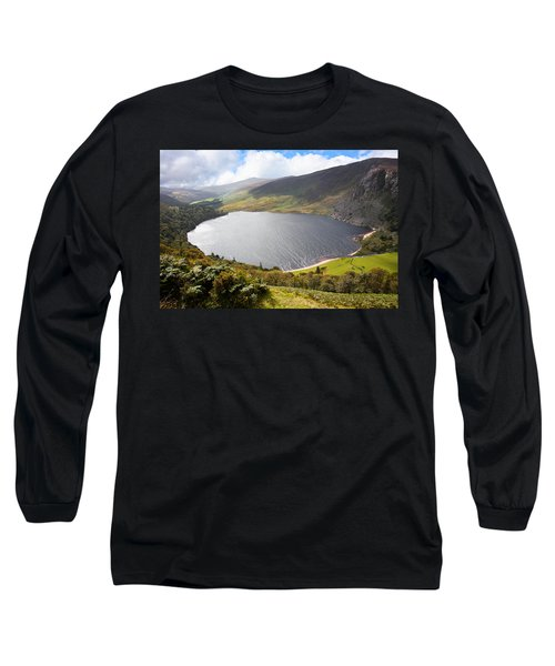Guinness Lake In Wicklow Mountains  Ireland Long Sleeve T-Shirt by Semmick Photo