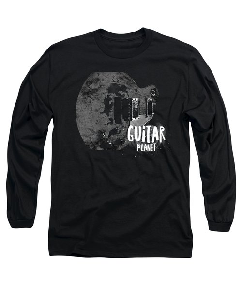 Long Sleeve T-Shirt featuring the photograph Guitar Planet  by Guitar Wacky