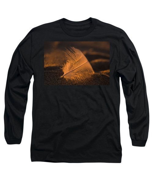 Gull Feather At Sunset Long Sleeve T-Shirt