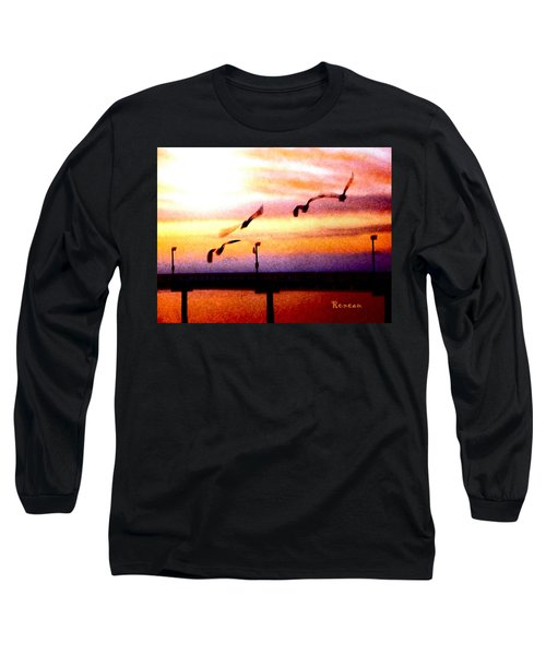 Long Sleeve T-Shirt featuring the photograph Gull Play by Sadie Reneau