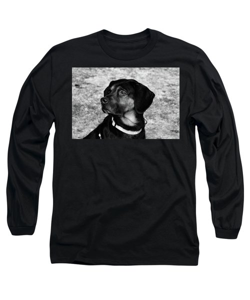 Gus - Black And White Long Sleeve T-Shirt