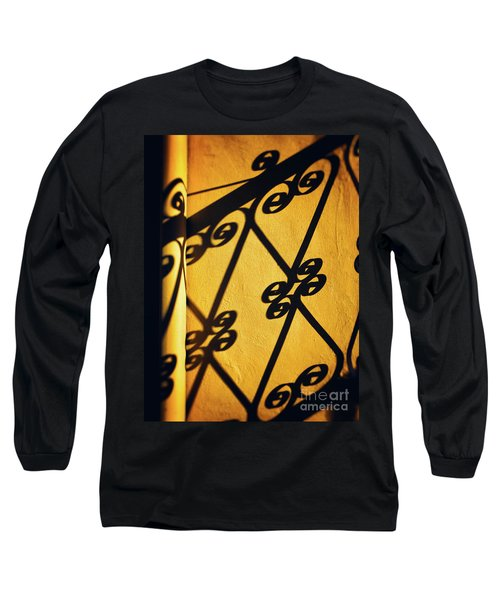 Long Sleeve T-Shirt featuring the photograph Gutter And Ornate Shadows by Silvia Ganora