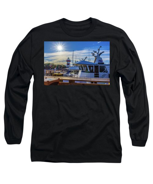Habour Town Lighthouse And Marina Long Sleeve T-Shirt