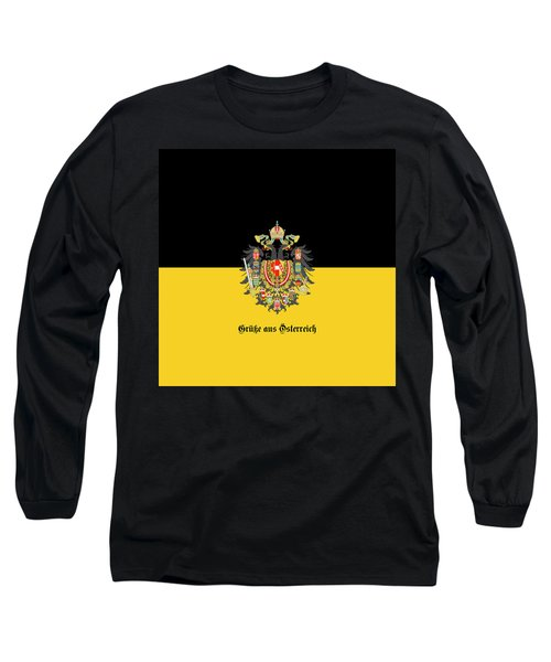 Habsburg Flag With Imperial Coat Of Arms 1 Greetings Long Sleeve T-Shirt