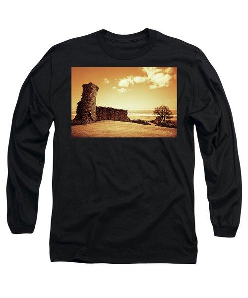 Hadleigh Castle Long Sleeve T-Shirt by Joseph Westrupp
