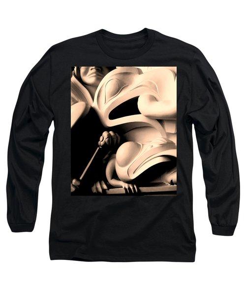 Haida Two Long Sleeve T-Shirt by Ian  MacDonald
