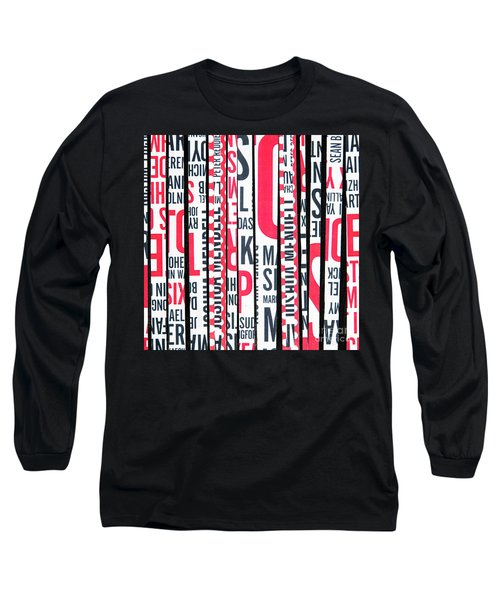 Haiku In Red And Black Long Sleeve T-Shirt by Elena Nosyreva