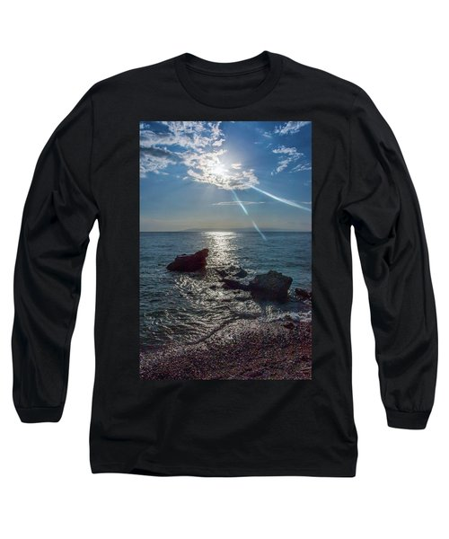 Haitian Beach In The Late Afternoon Long Sleeve T-Shirt