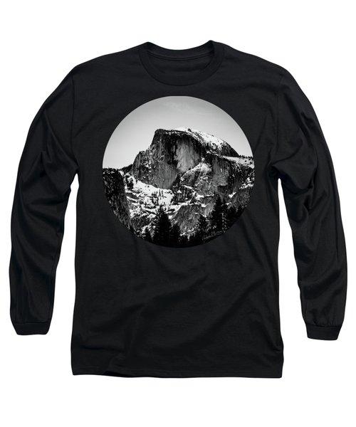Half Dome Aglow, Black And White Long Sleeve T-Shirt