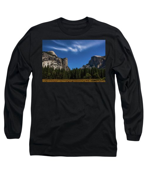 Half Dome And Moonlight - Yosemite Long Sleeve T-Shirt