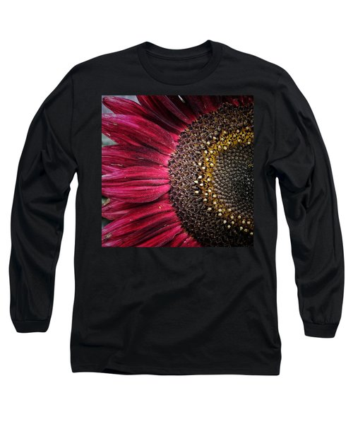 Long Sleeve T-Shirt featuring the photograph Half Red by Karen Stahlros