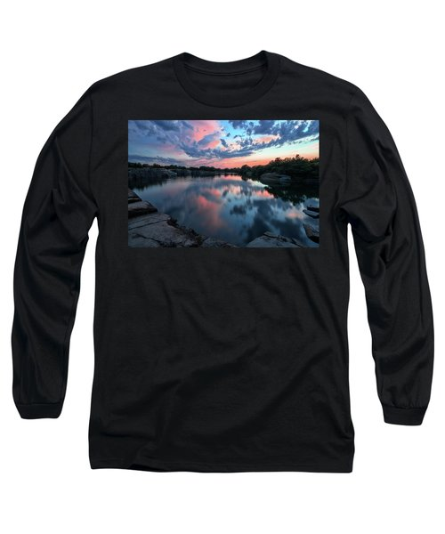 Halibut Pt Quarry Reflection Rockport Ma Long Sleeve T-Shirt
