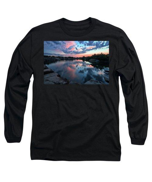 Halibut Pt Quarry Reflection Rockport Ma Long Sleeve T-Shirt