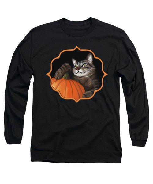 Halloween Cat Long Sleeve T-Shirt