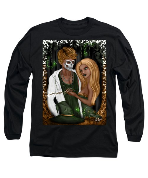 Long Sleeve T-Shirt featuring the painting Halloween In Florida Fantasy Art by Raphael Lopez