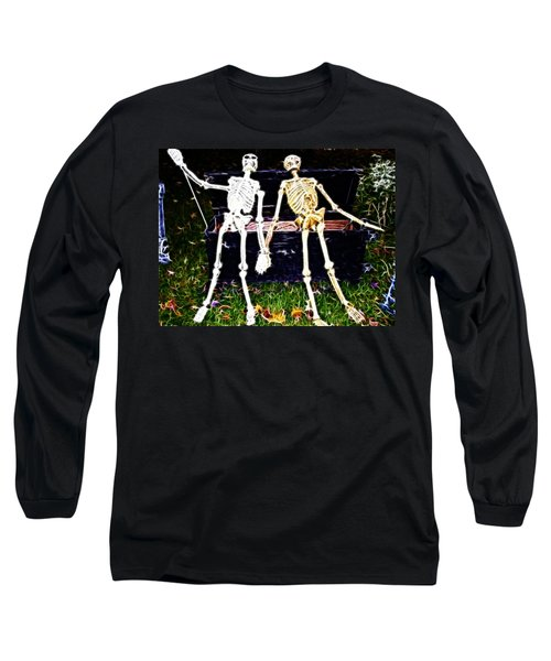 Halloween Skeleton Couple Long Sleeve T-Shirt