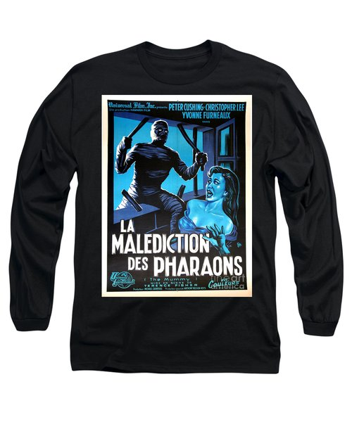 Hammer Movie Poster The Mummy La Malediction Des Pharaons Long Sleeve T-Shirt