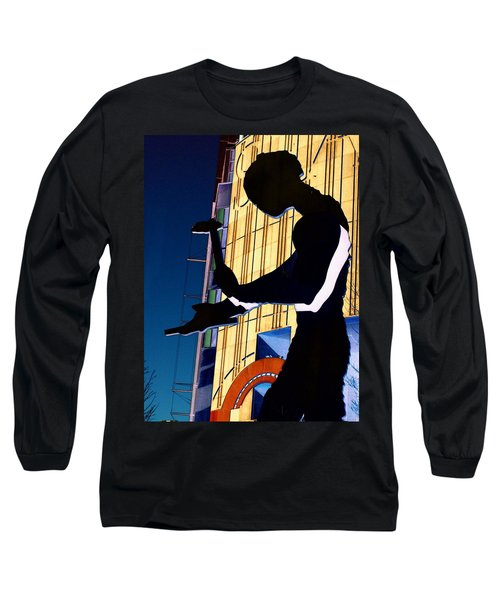 Hammering Man Long Sleeve T-Shirt by Tim Allen