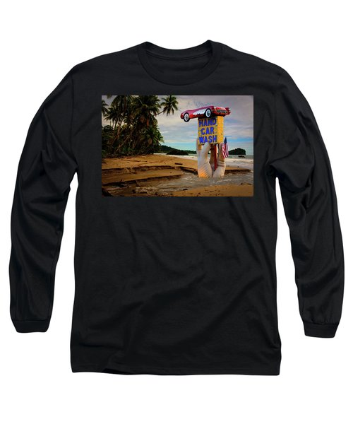 Long Sleeve T-Shirt featuring the photograph Hand Wash by Harry Spitz