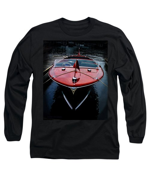 Handsome Wooden Boat Long Sleeve T-Shirt