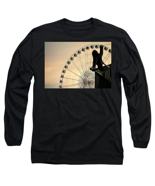 Long Sleeve T-Shirt featuring the photograph Hanging On The Wheel by Valentino Visentini