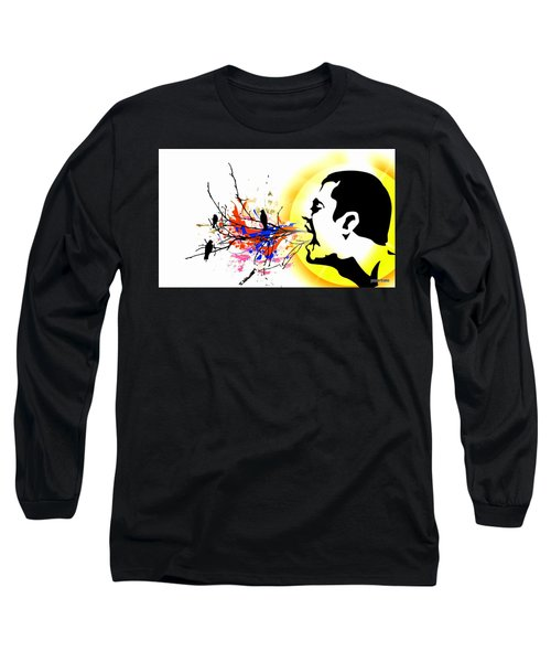 Happiness Must Be Born Within Us 1 Long Sleeve T-Shirt by Paulo Zerbato