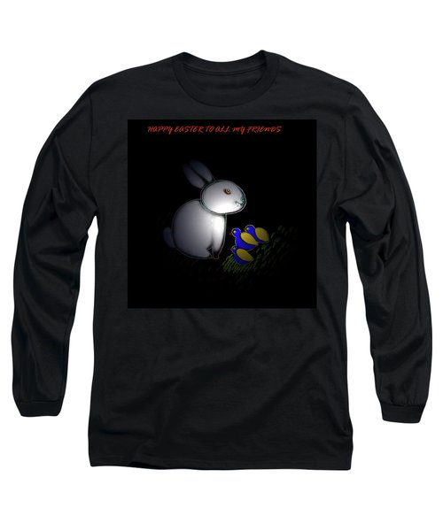 Happy Easter Long Sleeve T-Shirt by Latha Gokuldas Panicker