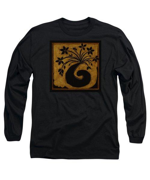 Long Sleeve T-Shirt featuring the mixed media Happy Exuberance by Gloria Rothrock