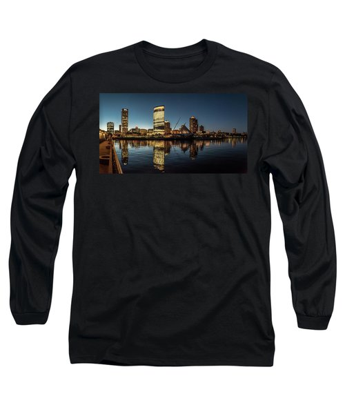 Long Sleeve T-Shirt featuring the photograph Harbor House View by Randy Scherkenbach