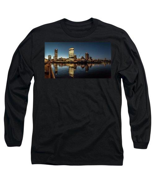 Harbor House View Long Sleeve T-Shirt by Randy Scherkenbach