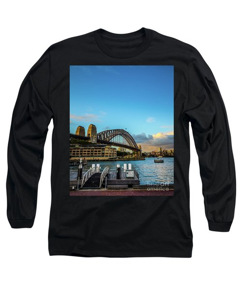 Long Sleeve T-Shirt featuring the photograph Harbour Sky by Perry Webster