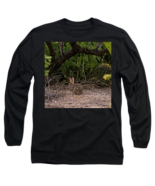 Long Sleeve T-Shirt featuring the photograph Hare Habitat H22 by Mark Myhaver