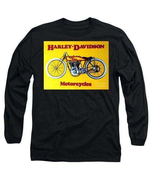 Harley - Davidson  Poster Long Sleeve T-Shirt by Pg Reproductions