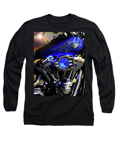 Harleys Twins Long Sleeve T-Shirt by DigiArt Diaries by Vicky B Fuller