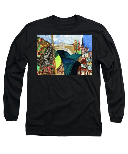 Harpers Ferry Rivers, Railroads, Revolvers Long Sleeve T-Shirt