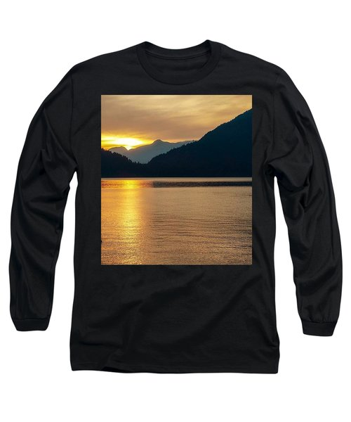 Harrison Lake, British Columbia Long Sleeve T-Shirt by Heather Vopni