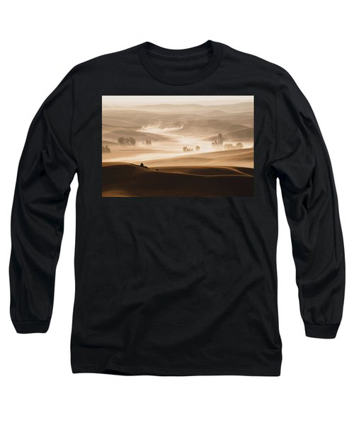 Long Sleeve T-Shirt featuring the photograph Harvest Dust by Chris McKenna