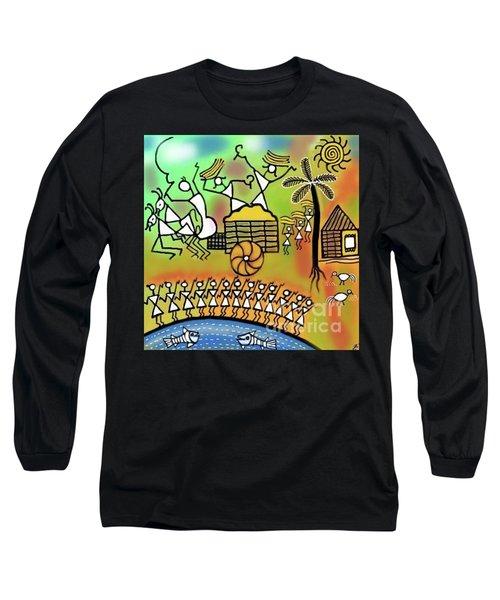 Harvest Long Sleeve T-Shirt by Latha Gokuldas Panicker