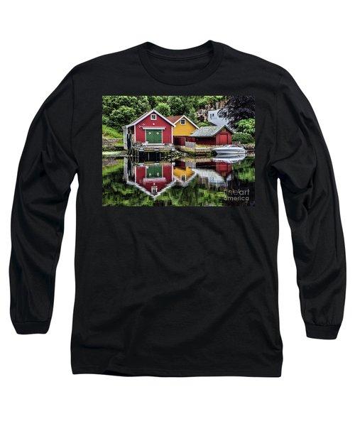 Haugesund Reflections Long Sleeve T-Shirt by Shirley Mangini