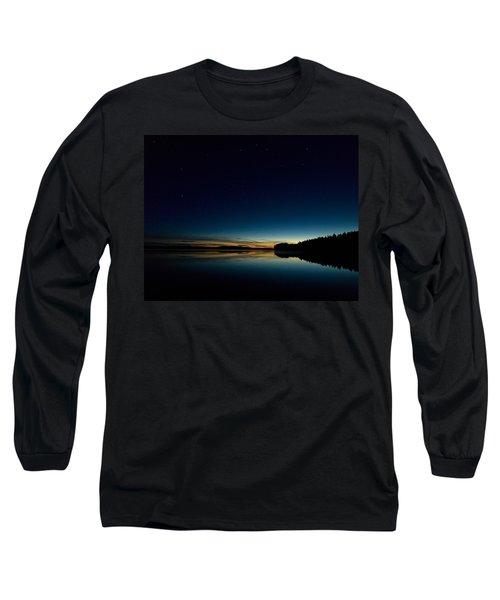 Long Sleeve T-Shirt featuring the photograph Haukkajarvi By Night With Ursa Major 1 by Jouko Lehto