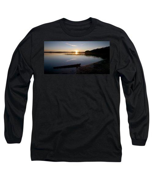 Long Sleeve T-Shirt featuring the photograph Haukkajarvi Evening by Jouko Lehto