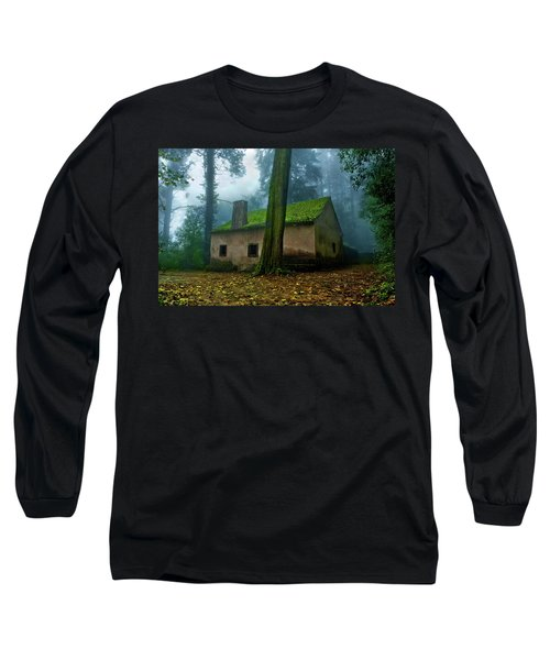 Haunted House Long Sleeve T-Shirt by Jorge Maia
