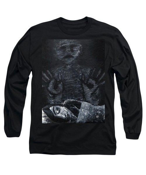 Long Sleeve T-Shirt featuring the painting Haunted by Teresa Wing