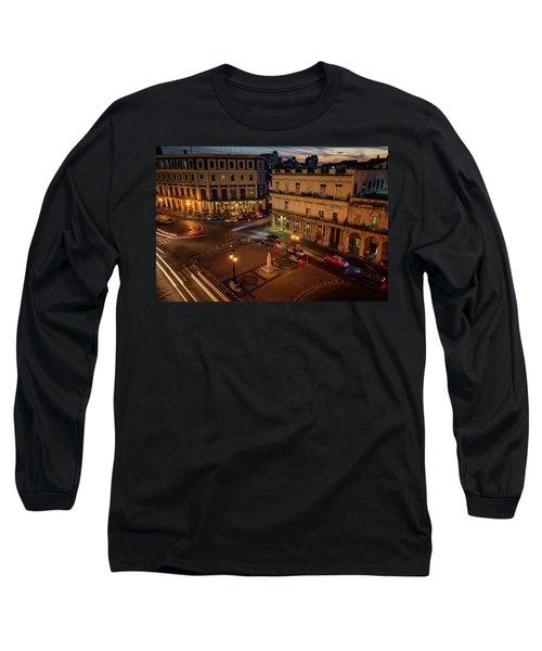Long Sleeve T-Shirt featuring the photograph Havana Nights by Joan Carroll