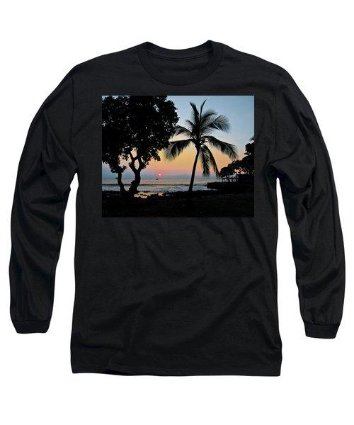Hawaiian Big Island Sunset  Kailua Kona  Big Island  Hawaii Long Sleeve T-Shirt