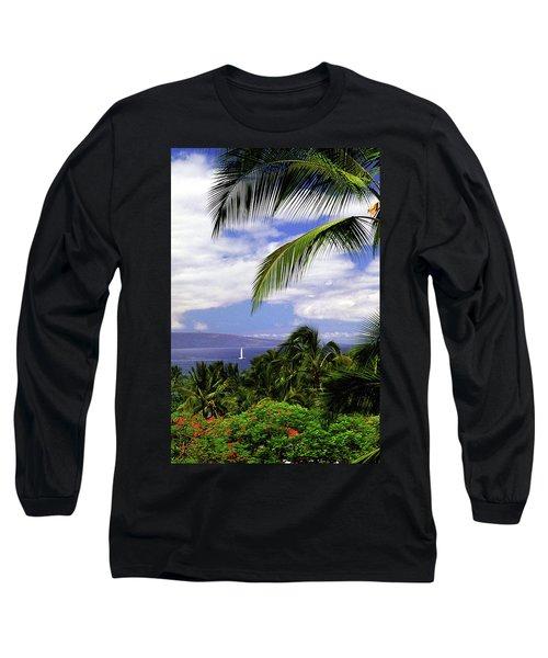 Hawaiian Fantasy Long Sleeve T-Shirt by Marie Hicks