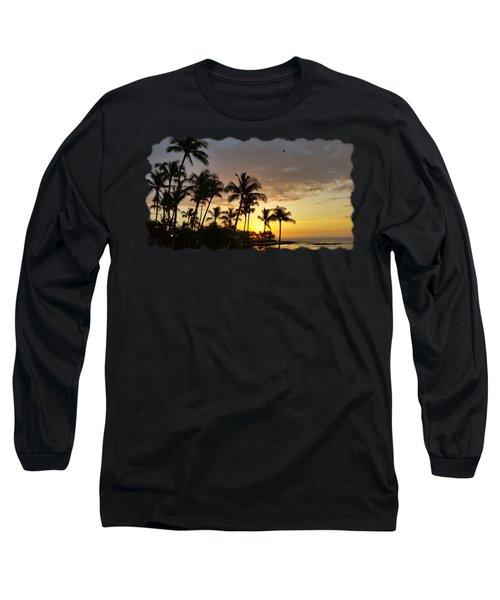 Hawaiian Sunset Design Long Sleeve T-Shirt