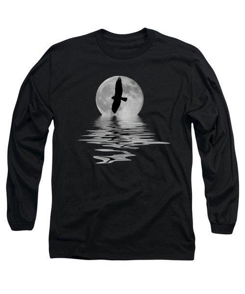 Hawk In The Moonlight 2 Long Sleeve T-Shirt