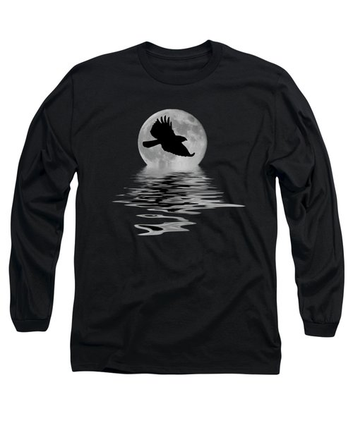 Hawk In The Moonlight Long Sleeve T-Shirt